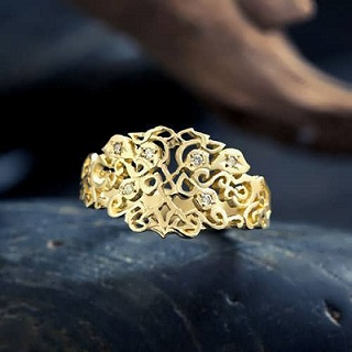 Earth Element Ring in gold or silver