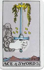 Ace of Swords - Rider Waite
