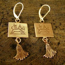 Sagittarius Earrings in Gold