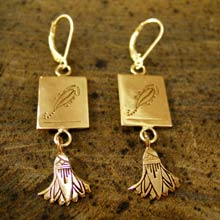 Scorpio Earrings in Gold