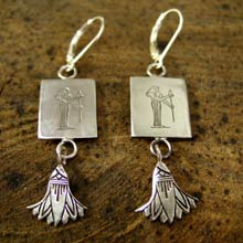 Virgo Earrings in Silver