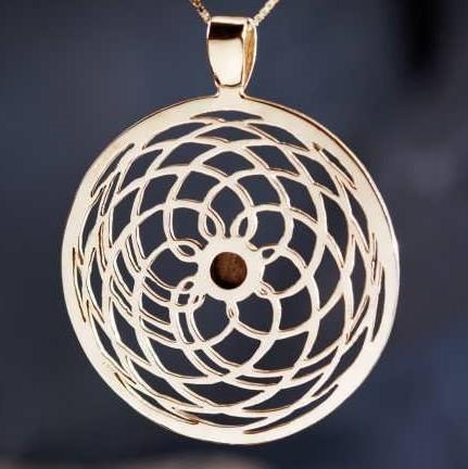 Mars Gold Pendant